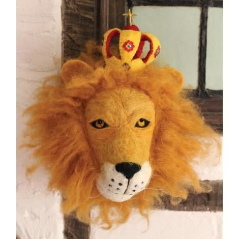 Wall Trophy Prince Leopold Lion available at the shop and online www.bobokids.co.uk