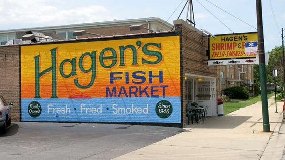 Haggen's Fish Market ahhhh the Smell as you walked by, and