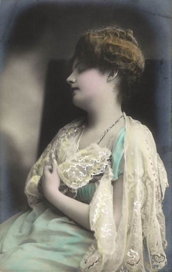 Edwardian Beautiful Young Lady Sleeping Dressed in Lace Photo Postcard | eBay