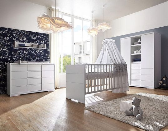 Perfect Schardt Kinderzimmer Maxx White mit t rigem Schrank mit Mittelregal Bett Wickelkommode