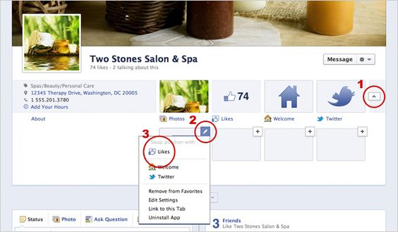 drive traffic to custom tabs with new timeline layout for Facebook Pages
