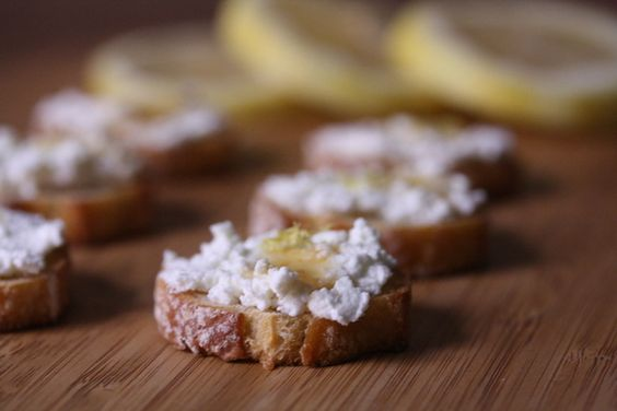 Lemon Ricotta Crostini with Truffle Honey | Recipe ...