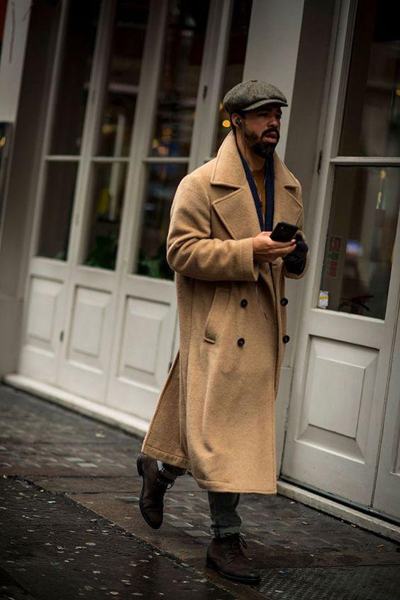 2017-02-12のファッションスナップ。着用アイテム・キーワードはコート, デニム, ハンチング・キャスケット, ブーツ,etc. 理想の着こなし・コーディネートがきっとここに。| No:196656