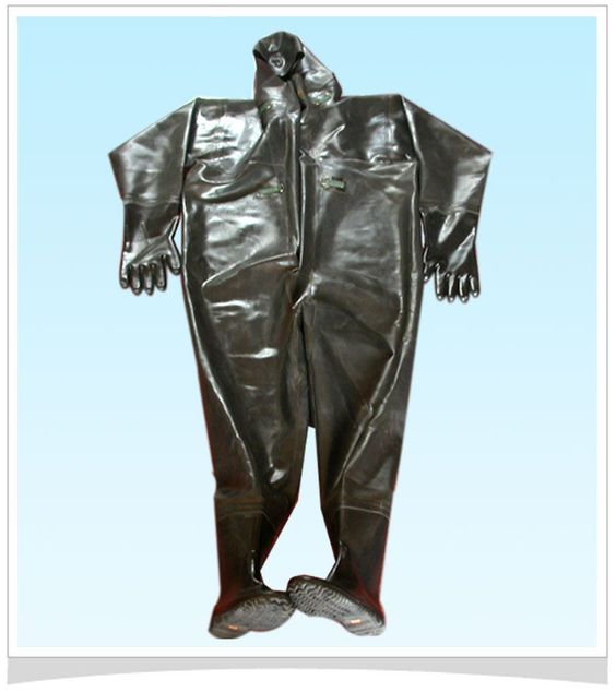 <Full Body> NEW Nature Rubber Fishing Suit [ US SIZE 12--SIZE 13 ] in Sporting Goods, Fishing, Clothes, Shoes & Accessories, Other Clothes | eBay