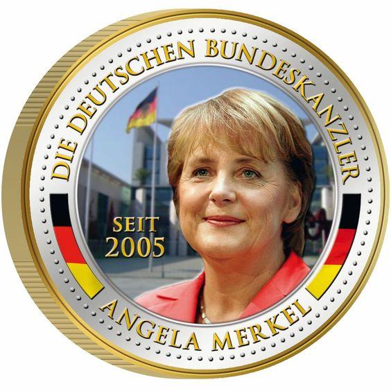 Bundeskanzlerin Angela Merkel Gedenkausgabe 2 Euro Kaltemaille in Münzen, Münzen Varia, Farbgeld | eBay