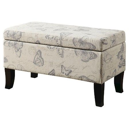 Winslow Butterfly Storage Ottoman - Convenience Concepts : Target