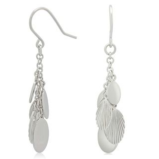 Sterling Silver Feathered Dangle Earrings