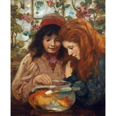 The Goldfish Bowl Canvas Art - William Stewart MacGeorge (20 x 24)