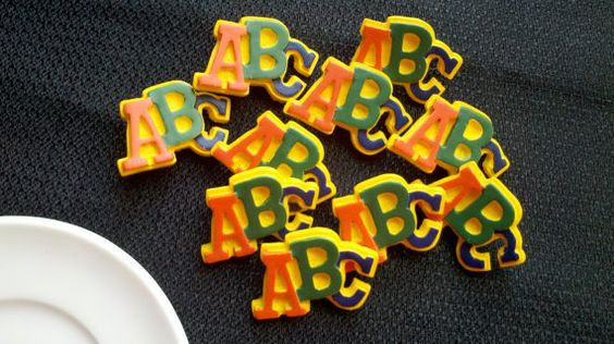 ABC Buttons  1 1/16 inch  10 by Boxtreasures on Etsy, $3.89