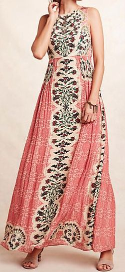 gorgeous bohemian maxi dress
