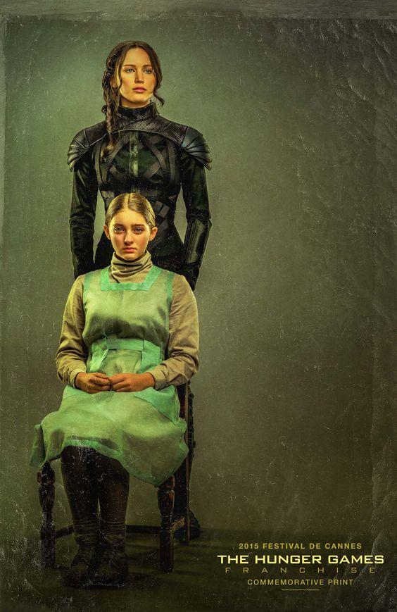 "Cannes Commemorative Poster - ""Sister Portrait"" #TheHungerGames #MockingjayPart2"