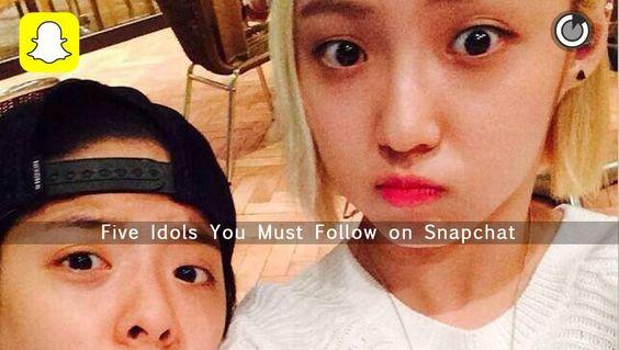 5 idols you must follow on Snapchat   http://www.allkpop ...