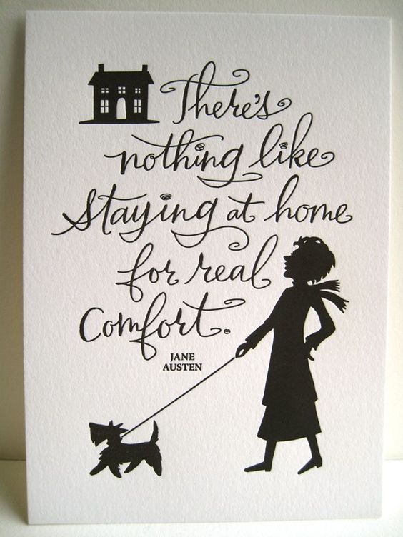 There Is Nothing Like Home Quotes: LETTERPRESS ART PRINT- There's Nothing Like Staying At