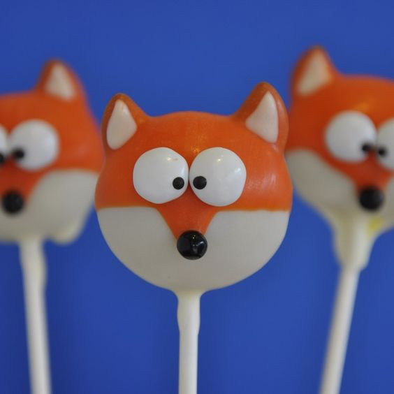 What does the Fox Say?? from Lil Cutie Pops, LLC   Square Market  Fox Cake Pops
