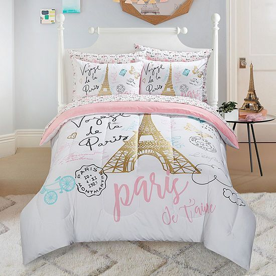American Kids Bonjour Comforter Set Paris Comforter Set Paris