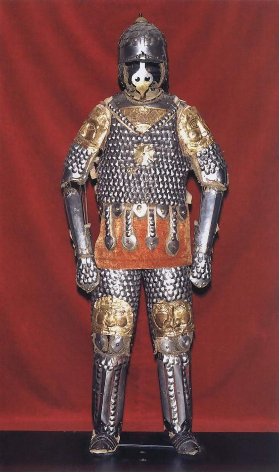 A full suit of 'Karacena' scale armour of the Polish Winged Hussar.