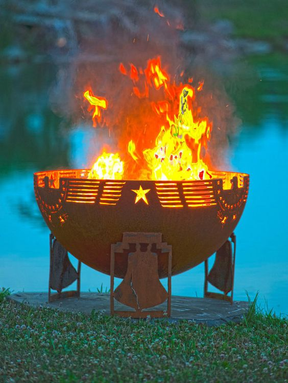 Freeedom Fire 37 Patriotic Fire Pit Eagle by TheFirePitGallery