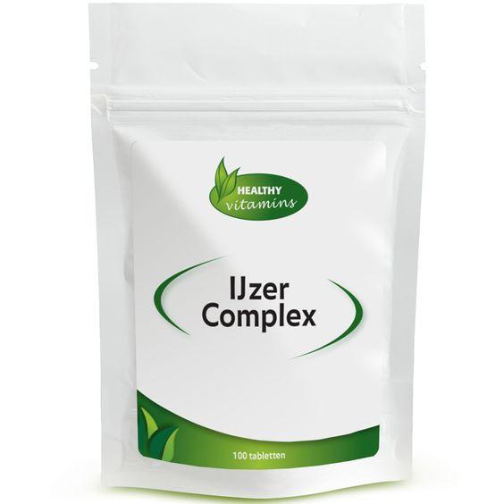 #IJzer #Complex is een speciale IJzer-formule die het unieke Ferrochel® ijzer chelaat bevat. Onderzoek heeft aangetoond dat deze vorm zeer goed wordt opgenomen in het lichaam. IJzer Complex wordt hierdoor beter verdragen dan het gemiddelde ijzer supplement, werkt minder verstoppend en bevat de de aanbevolen waarden. Om de werking te verbeteren is de formule aangevuld met Vitamine C, B12, Foliumzuur en Dong quai en Framboosblad. Prijs per 100 tabletten: €14,95