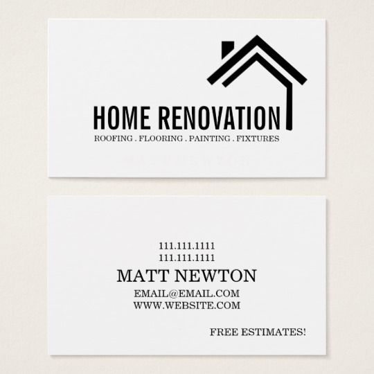 House Home Remodeling Renovation Construction Business Card Zazzle Ca Remodeling Business Construction Business Cards Home Remodeling