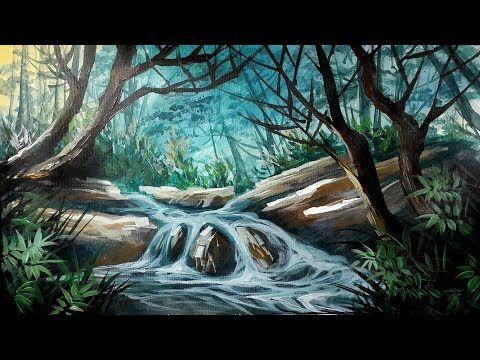 Cara Gampang Melukis Pemandangan Alam Youtube Nature Wallpaper Painting Acrylic Painting