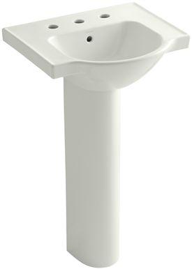 Kohler Veer 21 Single Bowl Pedestal Bathroom Sink In 2020 Wall