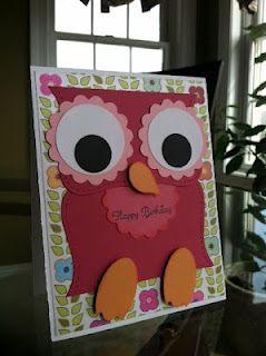 Fun punch art owl cards