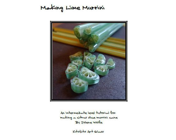 Making Lime Murrini pdf lampwork tutorial by FritNChips on Etsy, £15.00