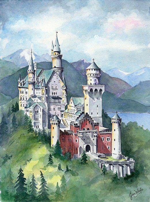 Pin Von Iza Auf Chatos In 2020 Schloss Neuschwanstein Fantasieschloss Burgen Und Schlosser
