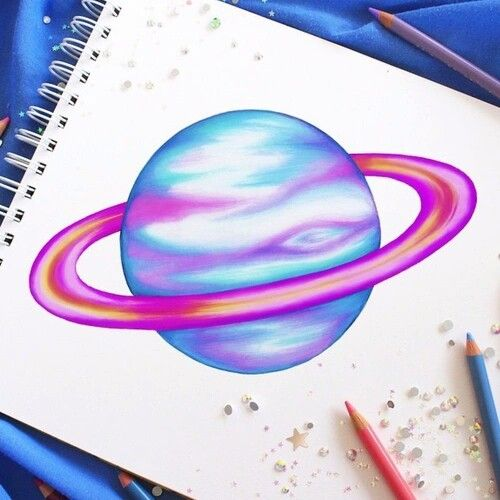 easy to draw the planets - photo #17