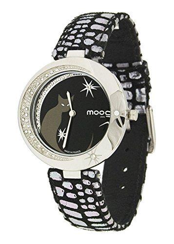 Moog Paris-Lucille Damen-Armbanduhr Zifferblatt schwarz Armband Pink aus echtem Leder, hergestellt in Frankreich-m44912-001 - http://uhr.haus/moog-paris/moog-paris-lucille-damen-armbanduhr-zifferblatt-4