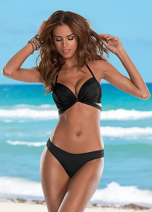 Wrap yourself in something sexy...Venus wrap around push-up top with low rise moderate bikini bottom. Top sizes A-DD and bottom sizes 2-16!