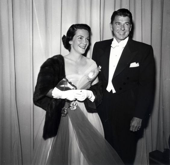 Nancy and Ronald Reagan at the Oscars - early 1950's: