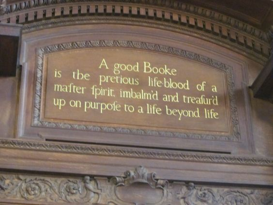 I saw this quote above one of the doorways at the New York Public Library and I just had to take a picture!