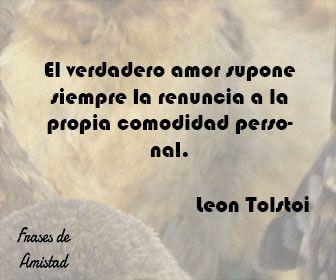 Frases filosoficas de amor de Leon Tolstoi