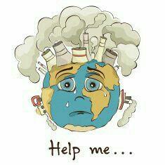 Earth Needs Our Help Earth Pollution Pemanasan Global Kartun Lingkungan Hidup