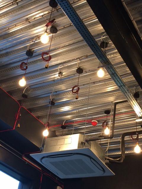 Lighting array multi level install is underway at u0027Piece Cafeu0027 INOVO Building Glasgow. BREEAM u0027Excellentu0027 EPC rating u0027Au0027. & Lighting array multi level install is underway at u0027Piece Cafe ... azcodes.com