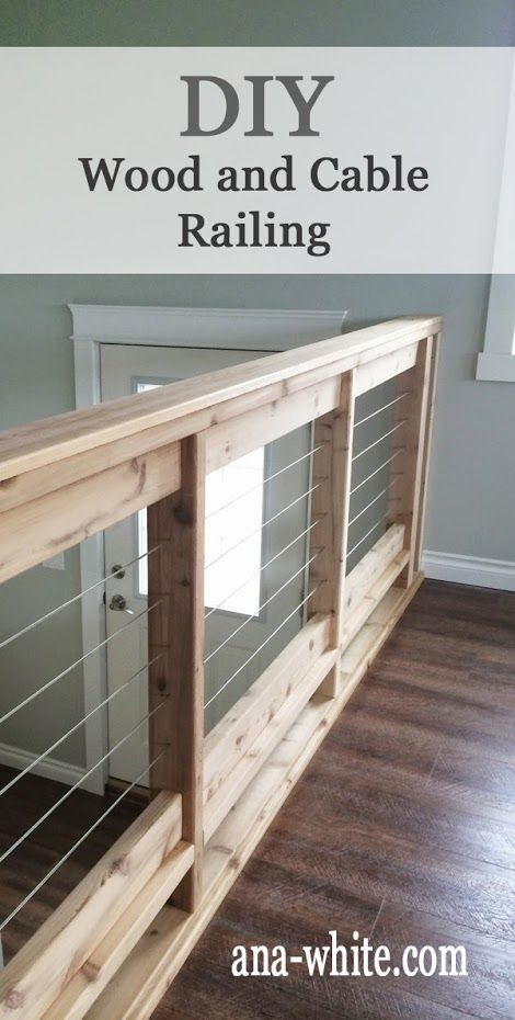 Owner Building a Home: The Momplex   Stainless Steel Cable and Wood Railing