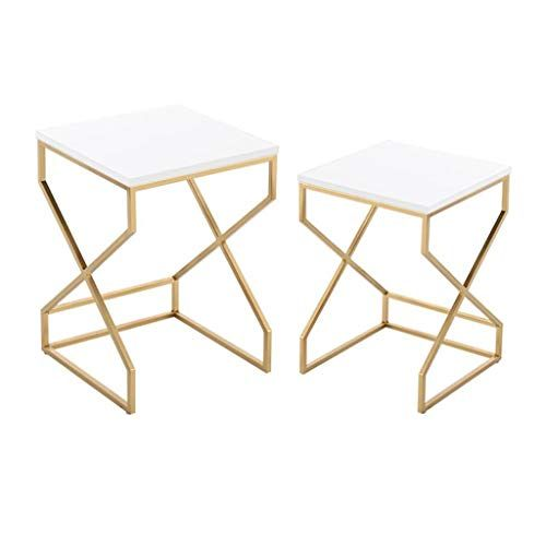 L Life End Tables Side Table Metal Side Table Square End Table Set Of 2 Coffee Table Living Room Bedroom Sofa Nesti Metal Side Table End Table Sets Side Table