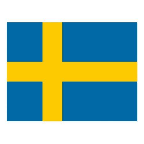Swedish National Flag Postcard Zazzle Com In 2020 National Flag Postcard Sweden Flag
