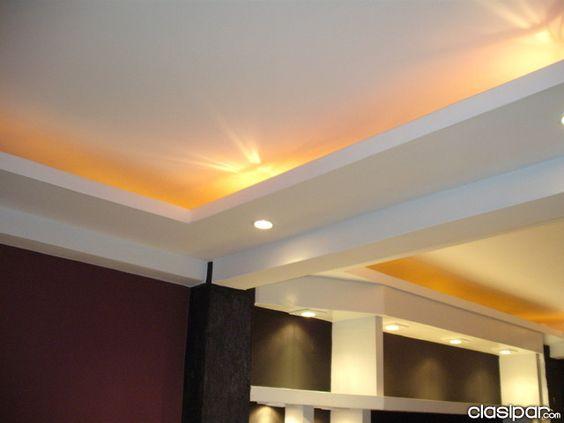 Cielorrasos durlock iluminacion pinterest for Cielos falsos para dormitorios