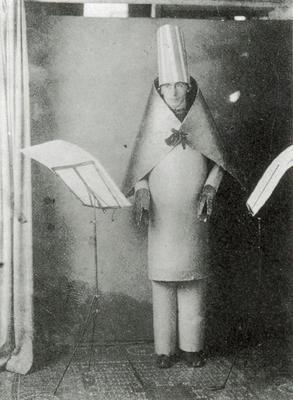 Tristan Tzara performing