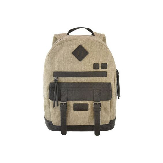 Women's Sherpani Indie Backpack - French Roast/Canvas College ($80) ❤ liked on Polyvore featuring bags, backpacks, canvas bag, daypack bag, brown bag, padded backpack and brown canvas backpack