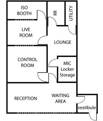 Audio Production and Record Studio - Des Moines, Iowa Skyline Audio Productions - Floor Plan