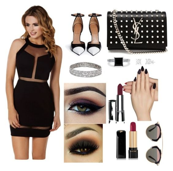 """""""Beauty ❤️"""" by karen-duron on Polyvore featuring moda, Lipsy, Givenchy, Yves Saint Laurent, BERRICLE, Static Nails, MAC Cosmetics, Ardell, Lancôme y Christian Dior"""