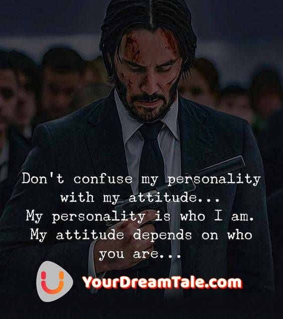 My personality is who i am my attitude depends on who you are meaning hindi