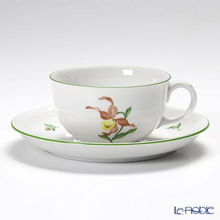 AUGARTEN wiener Flower   Tea cup and saucer - Orchid
