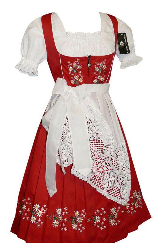 German Dirndl Women Dress Waitress Long Holiday Hostess Oktoberfest Party SET