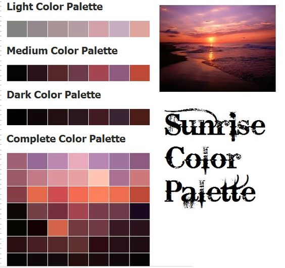 Sunrise Color Palette Workshop Organisation Amp Display