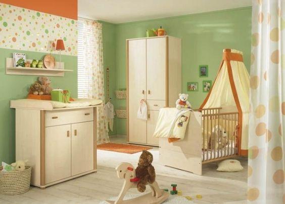 Grün Orange Hellholz Wohnideen Babyzimmer Neutrale Designs | Baby ... Babyzimmer Orange Grn