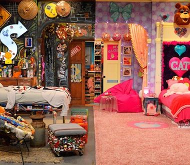 icarly bedroom.  iCarly Victorious spin off Sam Cat First look at girls room Ariana grande and Bedrooms